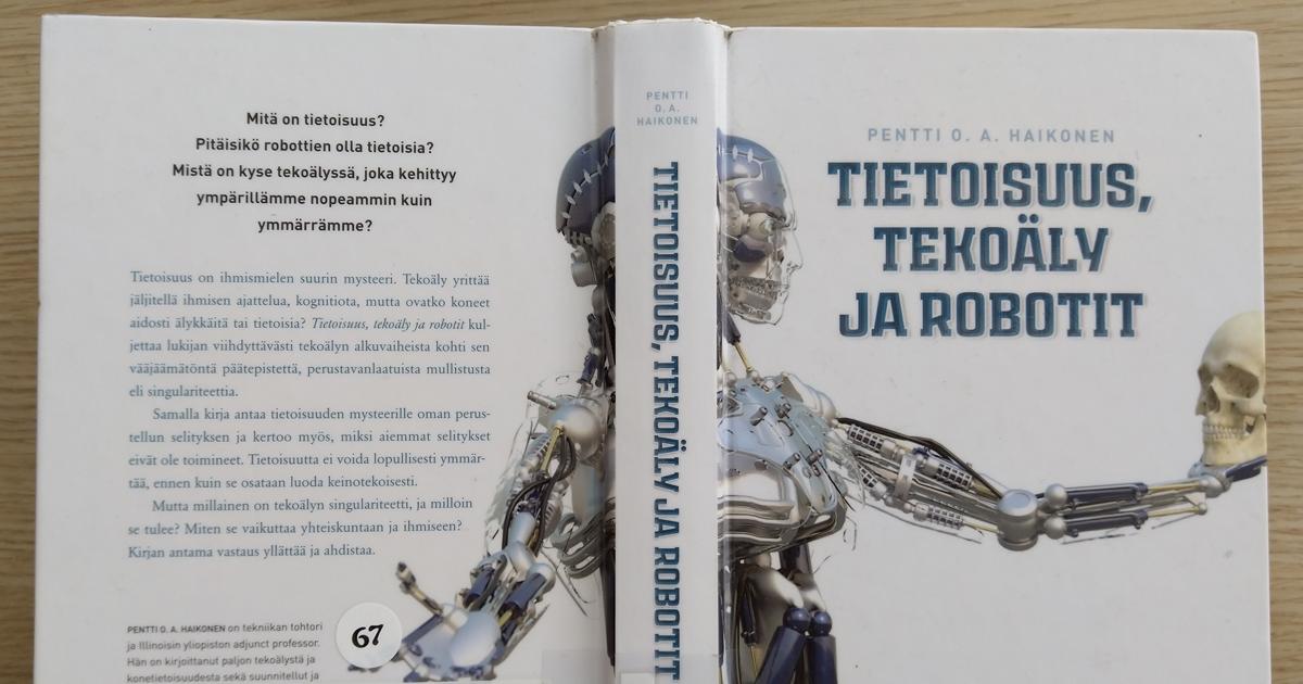 Haikonen Tietoisuus tekoäly robotit kirja-FB