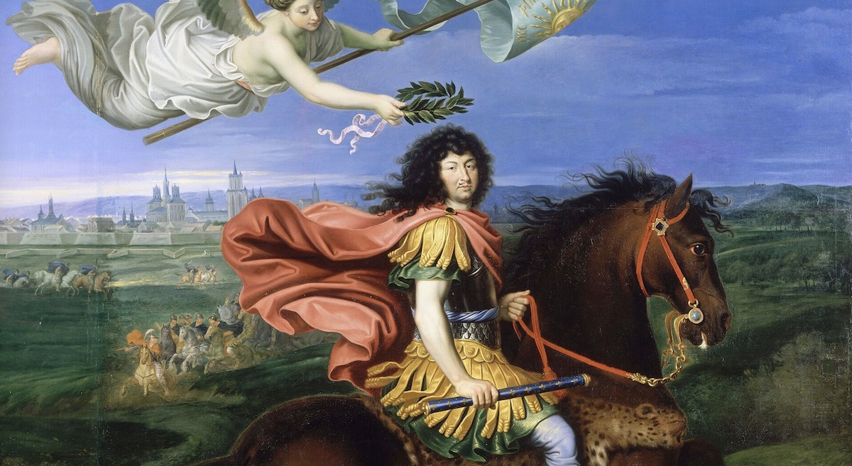 Louis XIV Equestrian in front of Namur_Mignard_Louvre