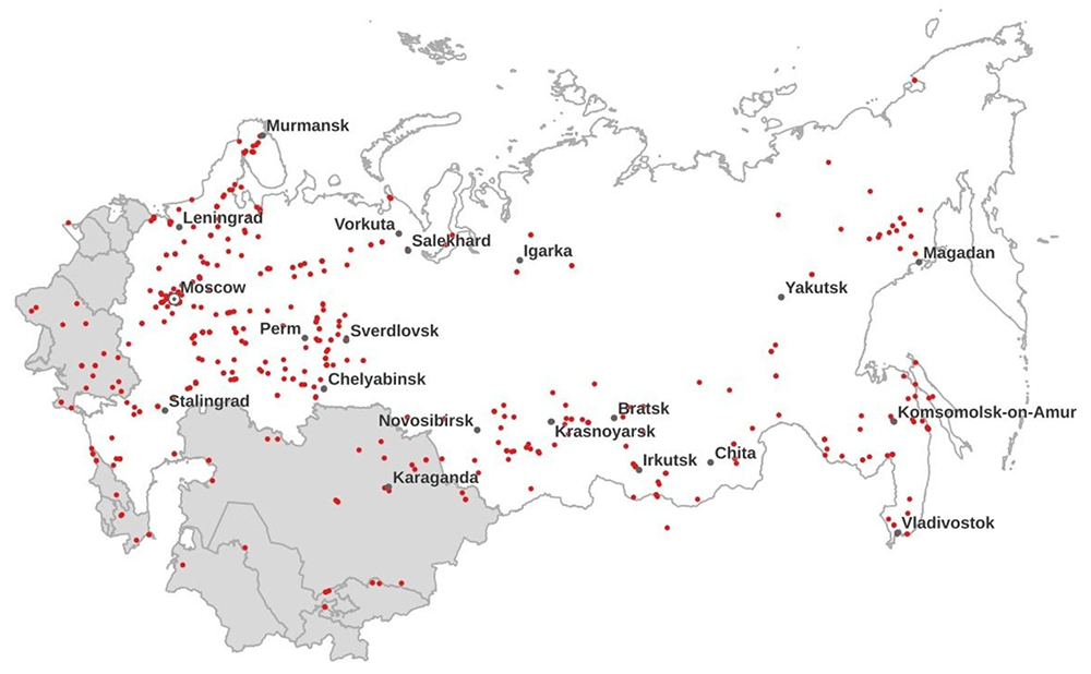 Gulag Online camps on map